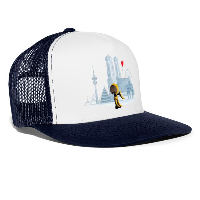 Münchner Kindl Cap - Ein Herz für München Skyline