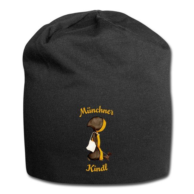 Münchner Kindl Beanie - Mütze mit Stofftasche und Dackel