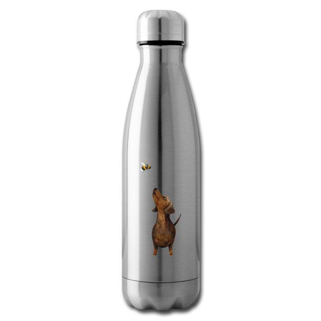 Münchner Kindl Isolierflasche - Dackel mit Hummel