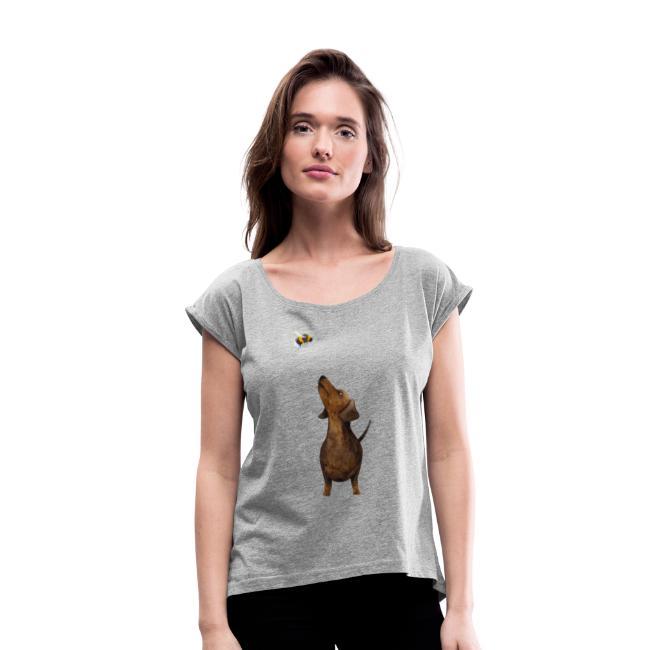 Münchner Kindl Frauen T-Shirt - Dackel mit Hummel