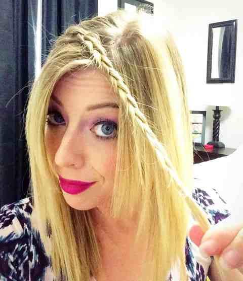 Braided Headband Hair Tutorial