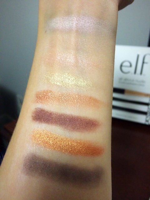 elf all about nude palette swatches