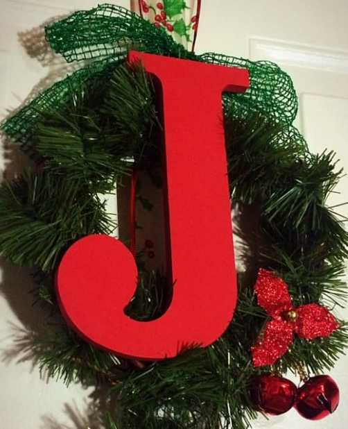 DIY Joy Wreath