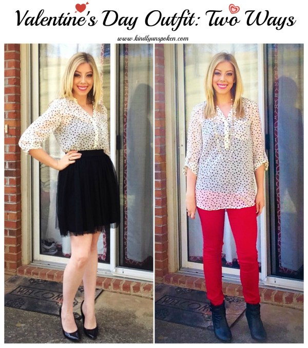 Valentine's Day Outfit Two Ways