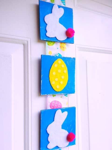 Easter Tile Door Hanger DIY (19)