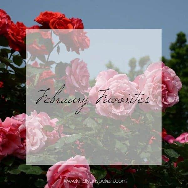 February Favorites Kindly Unspoken