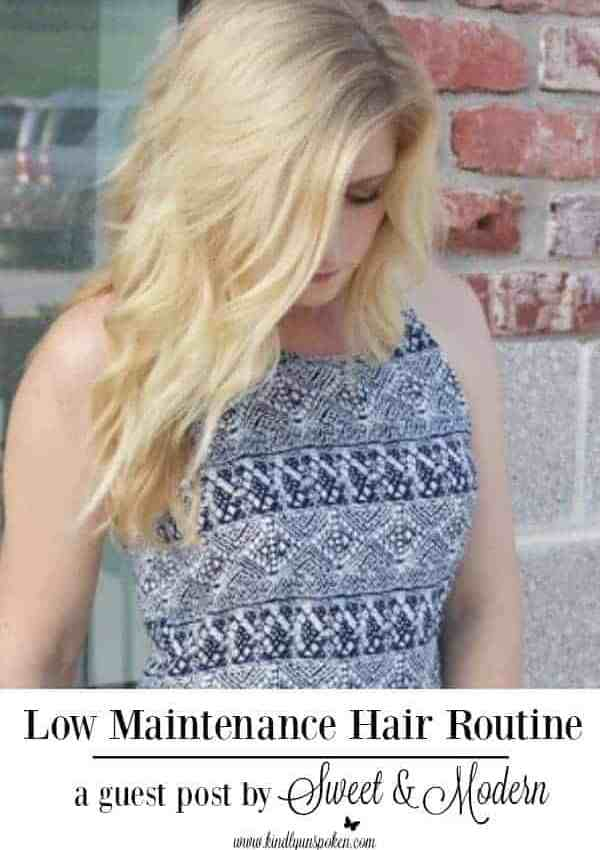 Low Maintenance Hair Routine- Guest Post