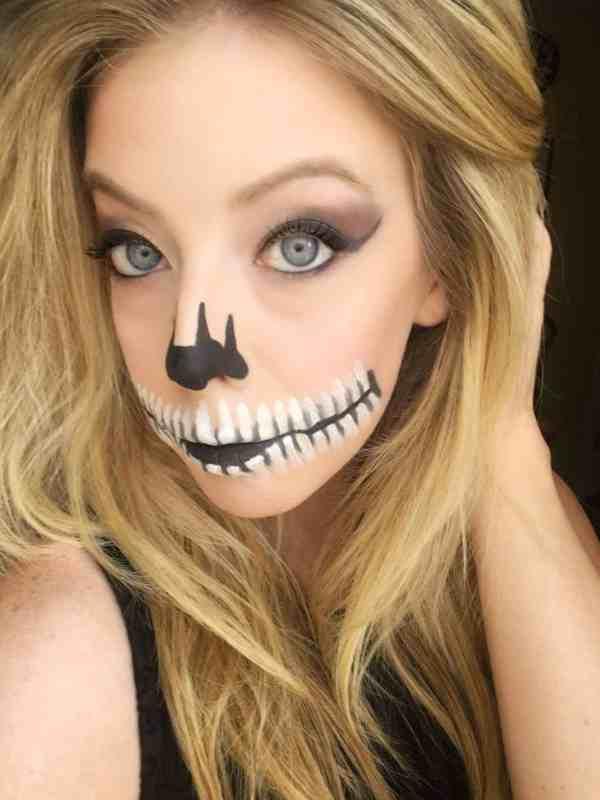Skeleton Mouth Makeup