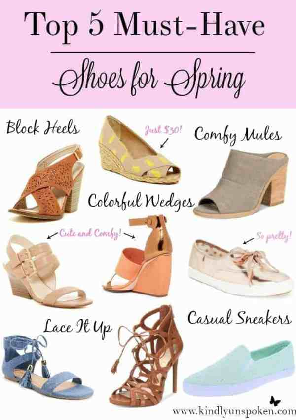 Top 5 Must Have Shoes for Spring- Under $50