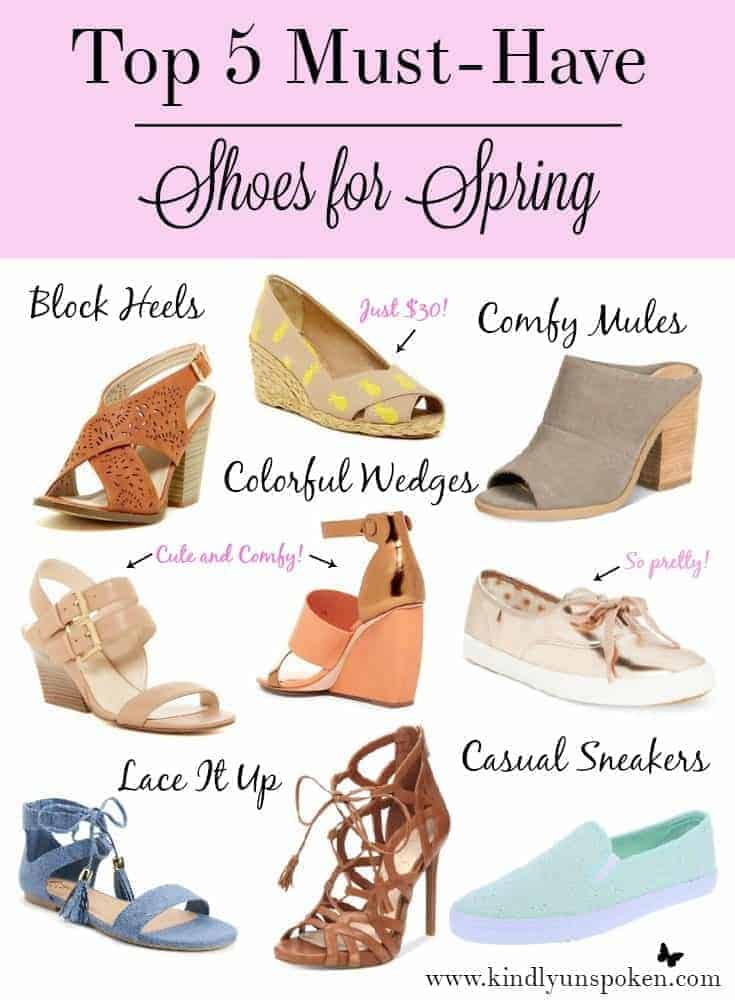 Top 5 Must-Have Shoes for Spring