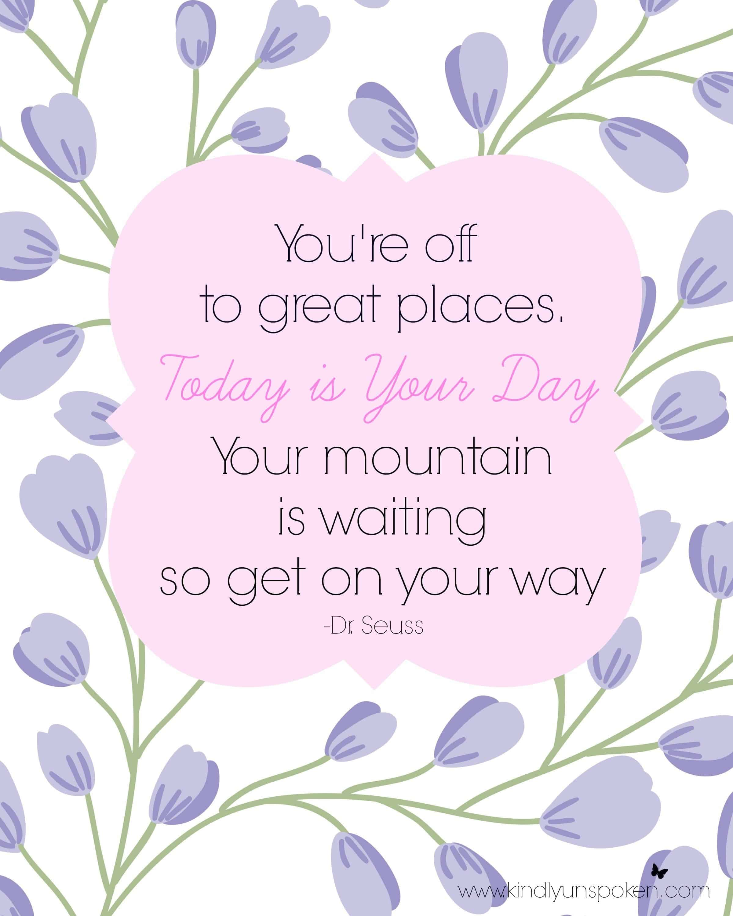 5 Spring Motivational Quotes Free 8x10 Printables