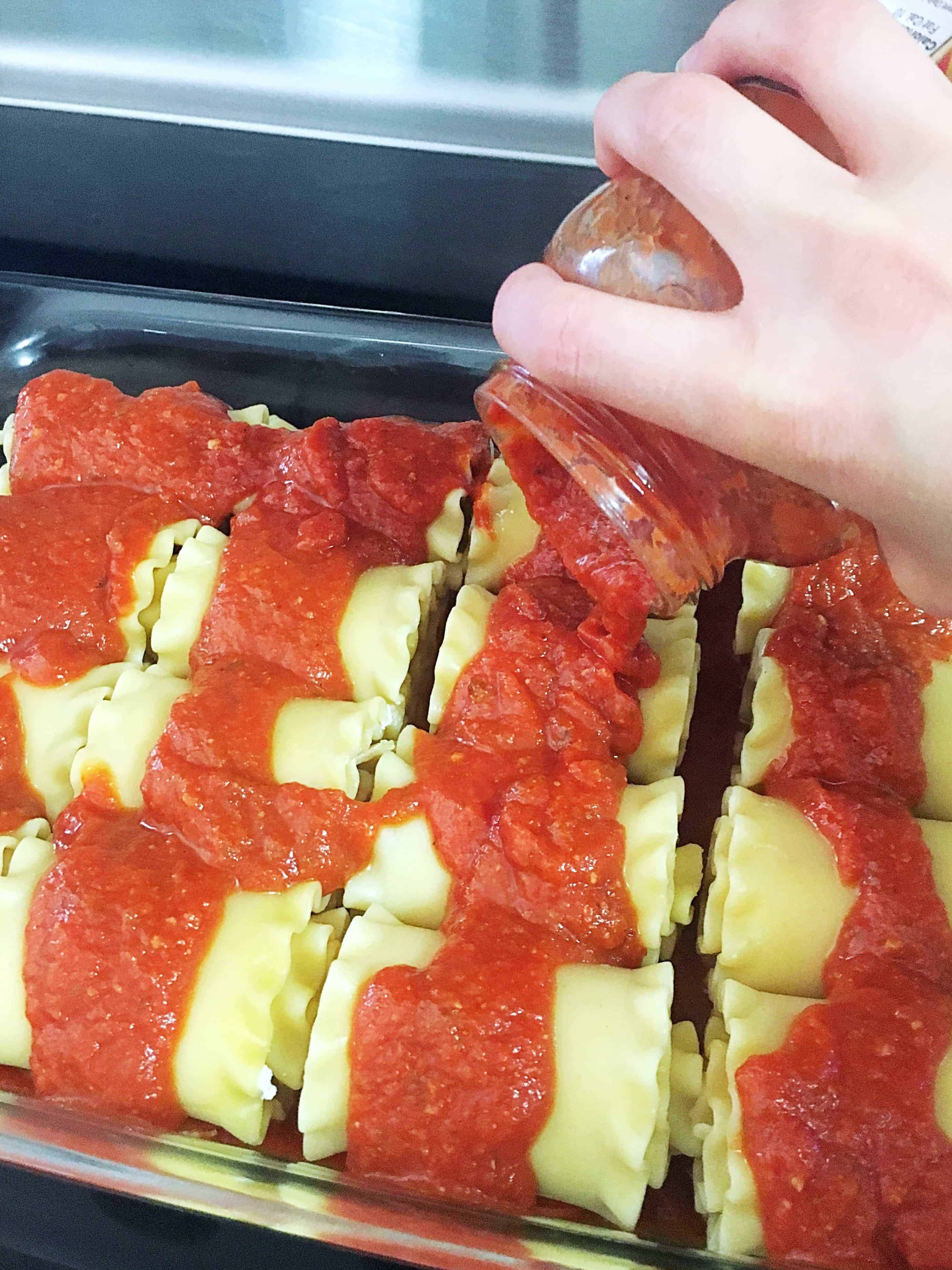 Made with lasagna noodles, pepperoni, marinara sauce, and mozzarella cheese, Pepperoni Pizza Lasagna Roll Ups are a delicious and easy weeknight meal favorite and perfect for family dinner!