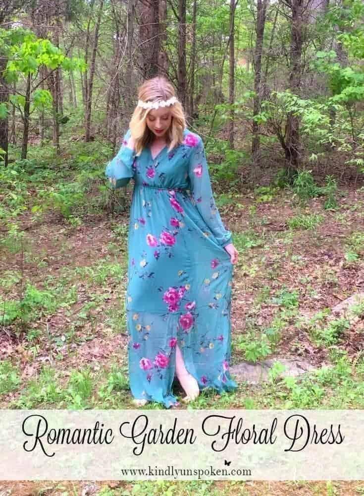 Girly + Romantic Garden Floral Dress
