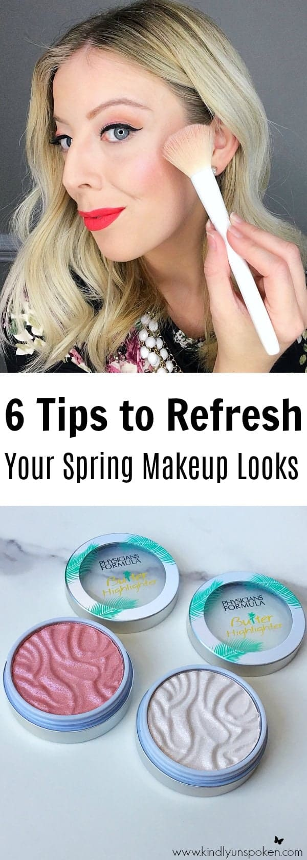 Spring is just around the corner, which means it's time to refresh your makeup collection! Today I'm sharing 6 Tips to Refresh Your Spring Makeup Looks plus I'm including a gorgeous, fresh makeup look featuring some of spring's must-have products and hottest trends! From bright lip colors, peach eyeshadows, to sun-kissed gold skin, it's time to add some color and freshen up your look for spring!