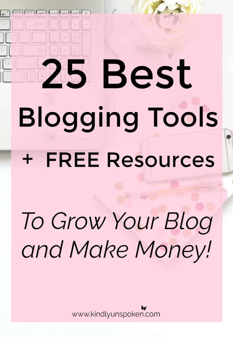 Ready to grow your blog? Check out these 25 best blogging tools and free resources that will help you grow your blog, increase traffic, and make money. From helpful blogging courses, e-books, productivity tools, SEO tips, and social media schedulers, this post has the absolute best blogging tools around!