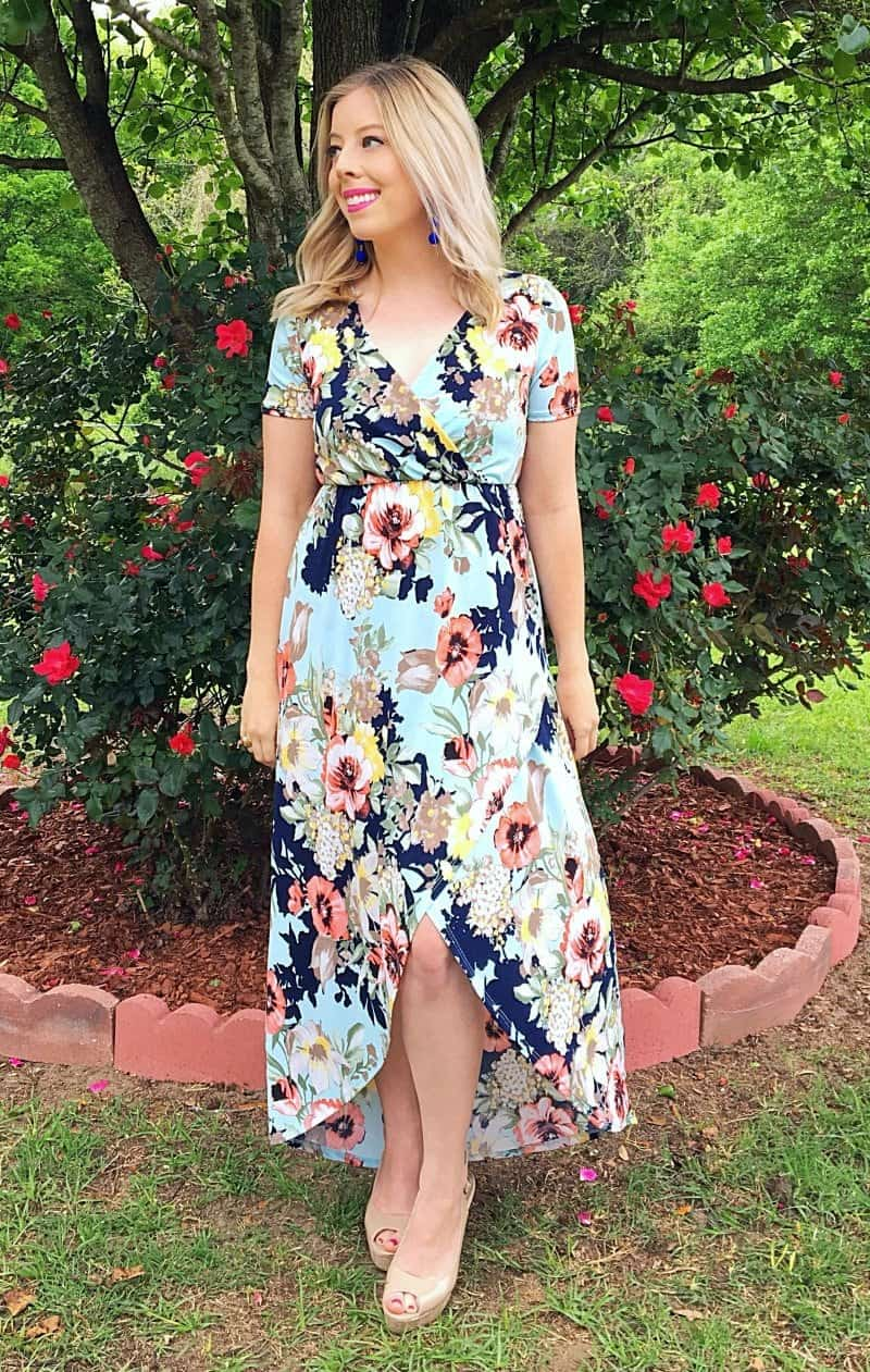 7319df4c06 Beautiful Spring Floral Maxi Dress - Kindly Unspoken