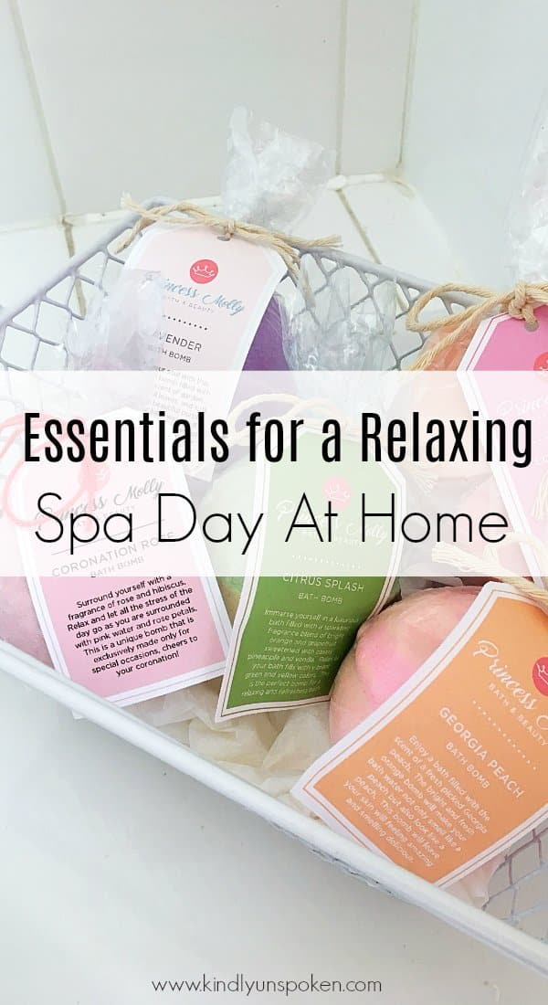 Ready for the ultimate spa day at home? Today I'm sharing all the must-have essentials for a relaxing spa day at home, plus the best home spa products for pampering yourself! #ad #princessmollybathandbeauty #homespa #spaday #athomespa #bathproducts #beautyessentials