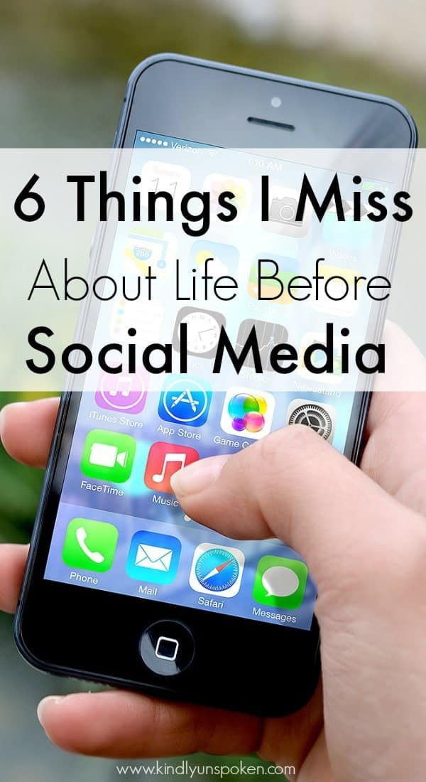 Sometimes I miss a time where social media didn't consume everyone's lives. Today I'm sharing 6 Things I Miss About Life Before Social Media.