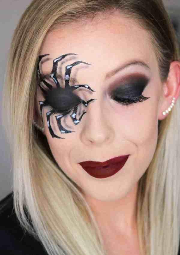 Spooky Spider Makeup Halloween Look