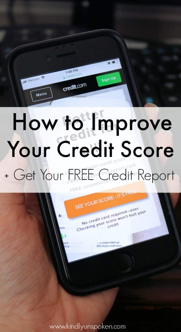 Want to know how to improve your credit score? Check out this helpful post with free tools and resources for checking your credit, improving it, and repairing it! #sponsored #credit