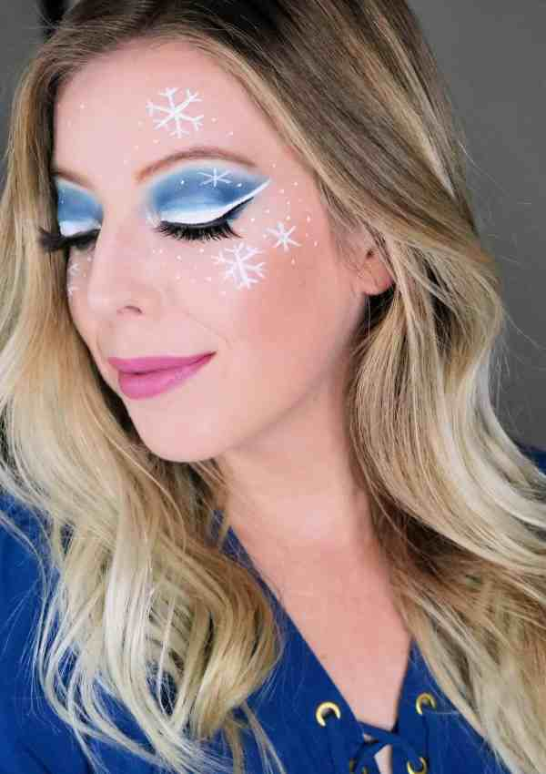 Gorgeous Ice Princess Winter Snowflakes Makeup Look