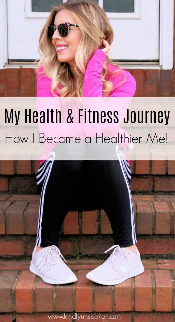 Sharing my fitness journey that helped me realize being healthy isn't about being skinny and happiness isn't defined by your clothing size. Read my full health and fitness journey over here including some of my current fitness goals.