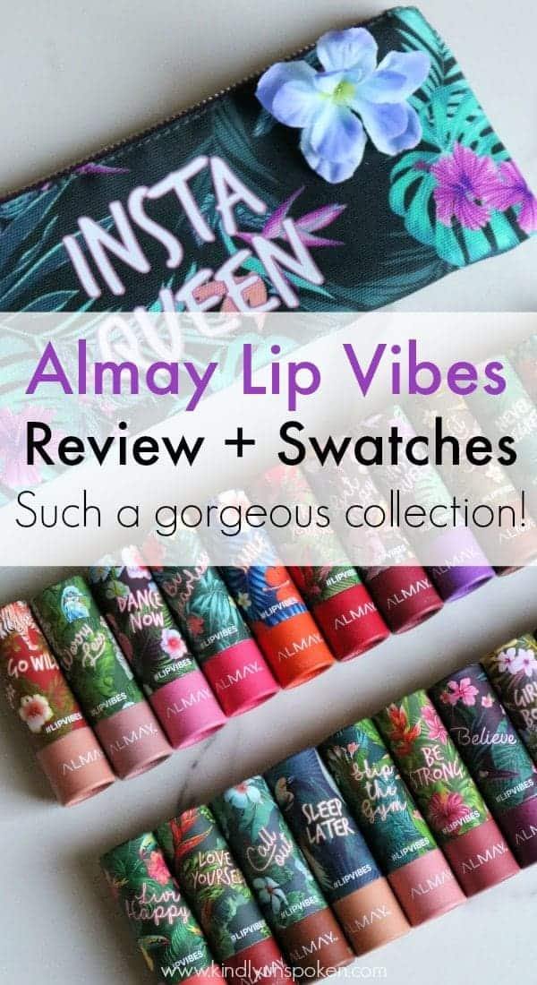 Love a bright lipstick? Then you'll love the new Almay Lip Vibes Lipsticks at the drugstore with 24 beautiful shades to choose from! Check out my full review and swatches of the entire collection! #almay #lipvibes #drugstoremakeup #lipstick #affordablemakeup