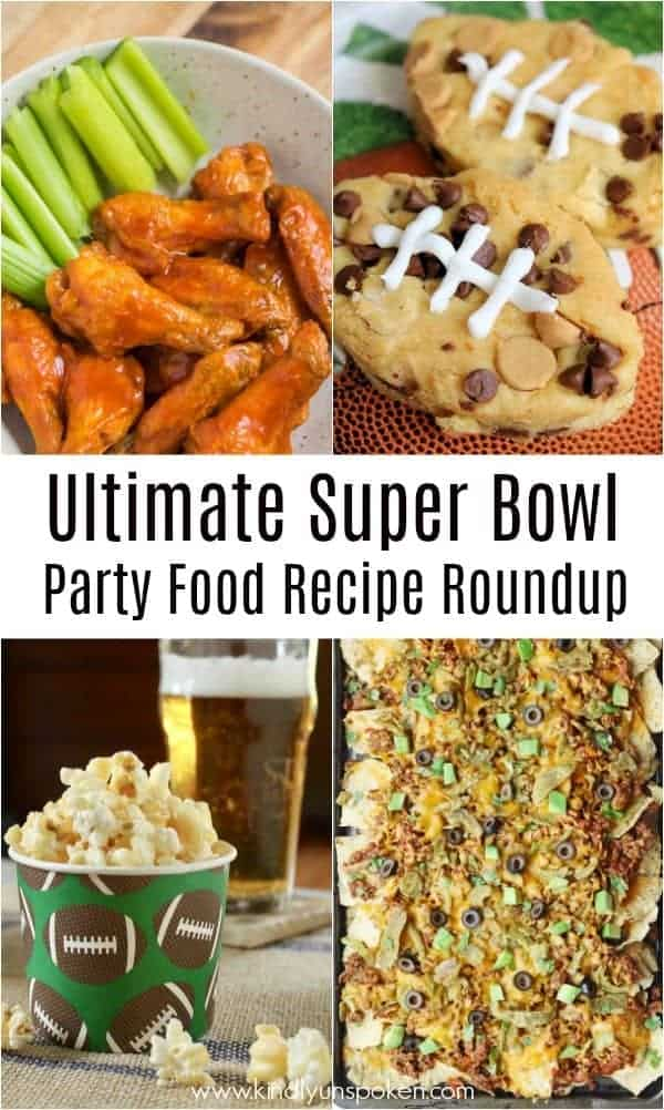 Need food recipe ideas that everyone will love to eat at your next Super Bowl party? Check out my roundup of the 65 Best Super Bowl Party Food Recipes including easy and delicious appetizers, wings, dips, snacks, desserts, and more! #superbowl #partyfood #superbowlfood