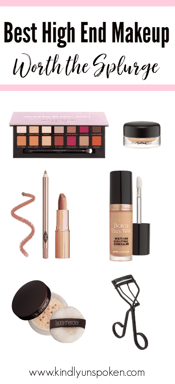 See which luxury, high end makeup items 20 top beauty bloggers recommend splurging on in this roundup of the best high end makeup and beauty must-haves. #highendmakeup #bestmakeup #luxurymakeup