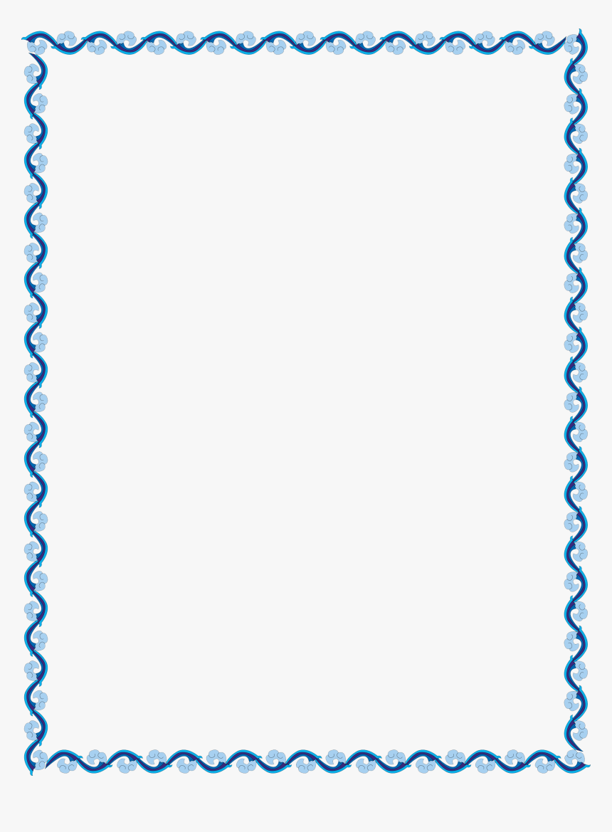 Outline Border Design Simple Png Download Simple Border Design Blue Transparent Png Kindpng