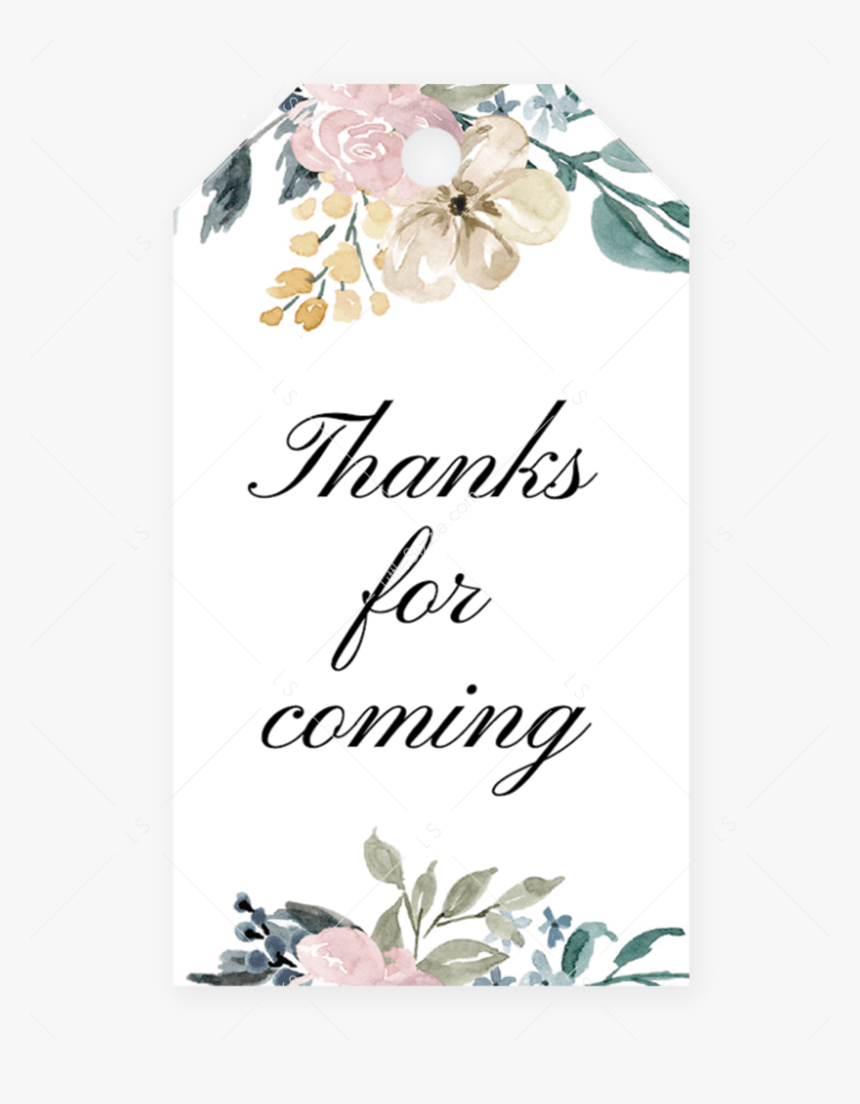 Editable Favor Tag Template For Whimsical Shower By