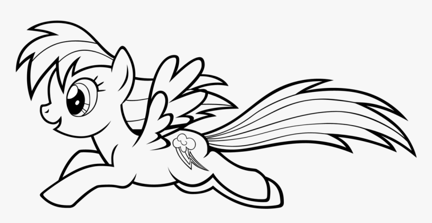 Rainbow Dash Coloring Pages Running Mylittle Pony Coloring Page Hd Png Download Kindpng