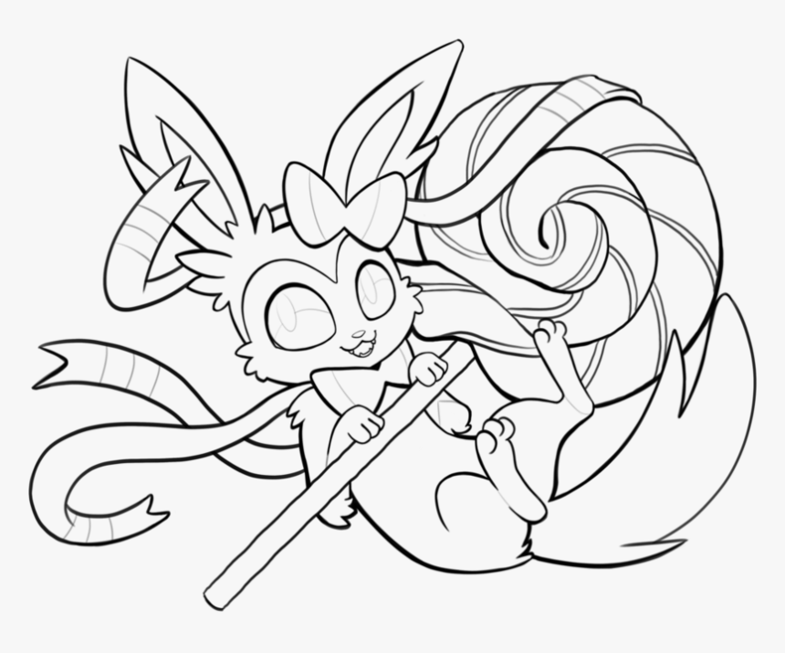 Pokemon Coloring Pages Sylveon Eevee Evolution Pokemon Coloring Pages Hd Png Download Kindpng
