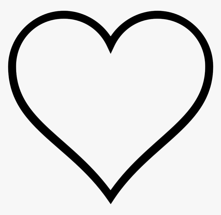 Download Love Heart Outline Svg, HD Png Download - kindpng