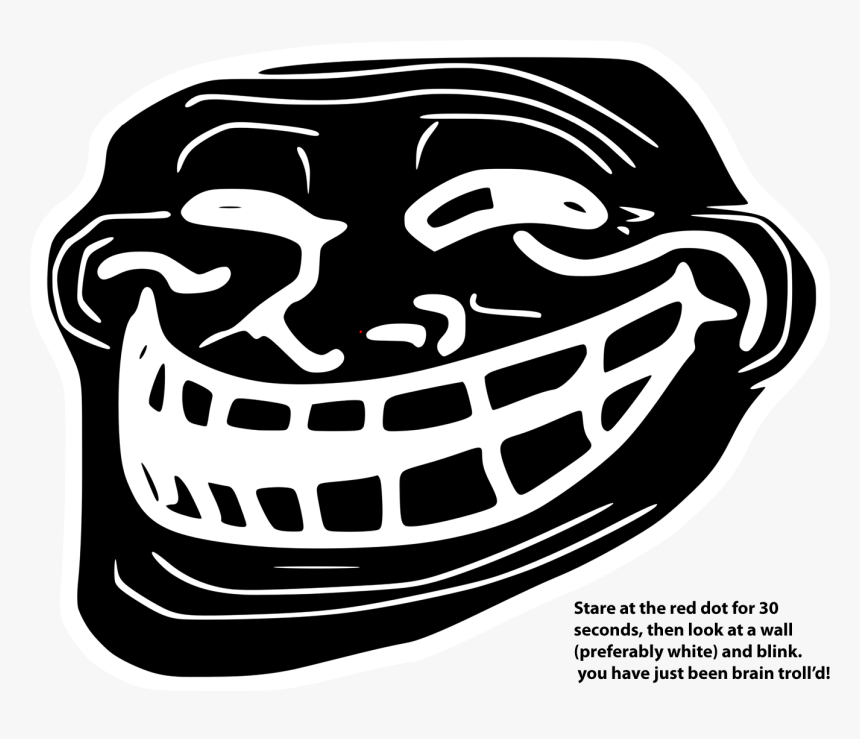 Dot Clipart Blinking Red Troll Face Black And White Hd Png