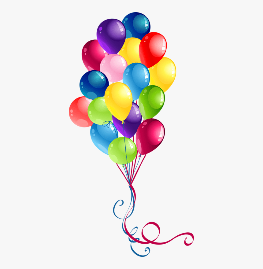 Happy Birthday Balloons Clipart Hd Png Download Kindpng