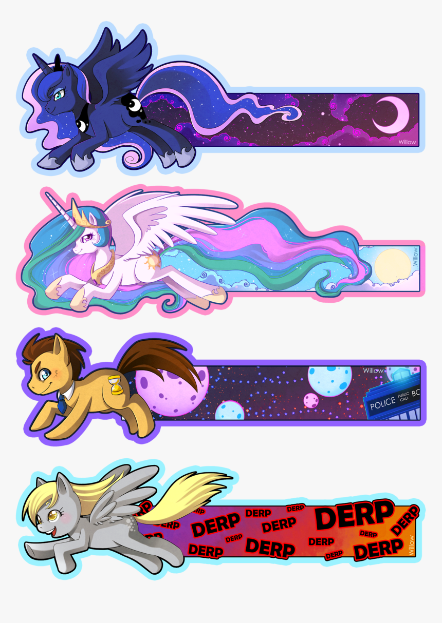 Free Printable My Little Pony Bookmarks Hd Png Download