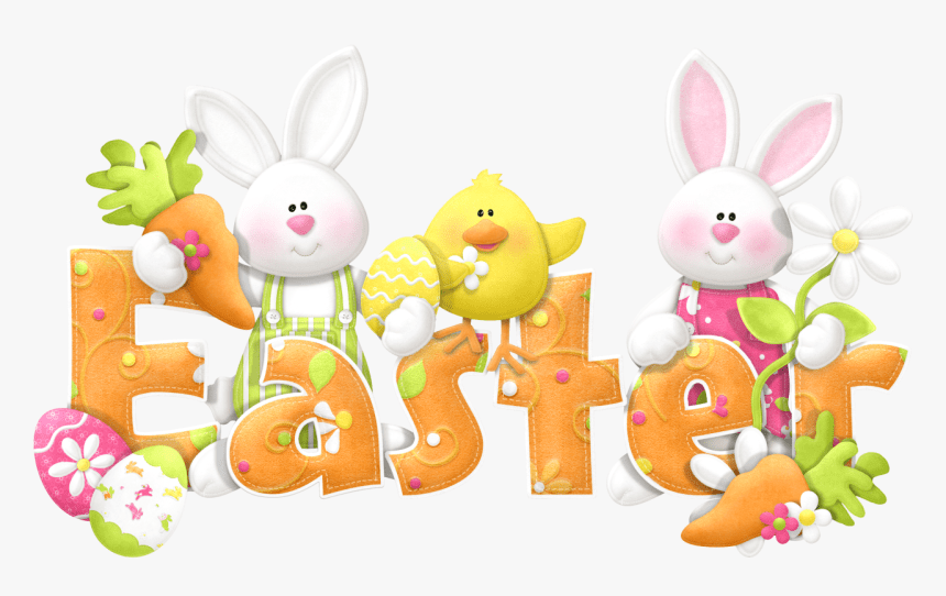 Easter Bunny Background Clipart Happy Easter Bunny Hd Png Download Kindpng