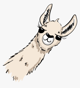freetoedit #ftesticker #lama #overlaysticker #cute - Clipart Llama Head  Cartoon, HD Png Download - kindpng