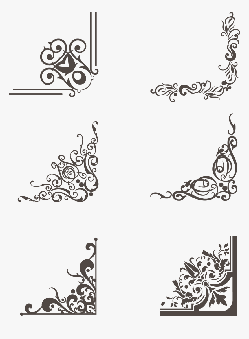 border greeting card brown lace png and