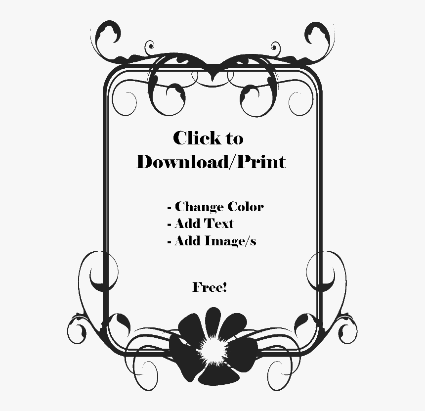 Flower Page Border Black And White Page Border Design Hd Png Download Kindpng