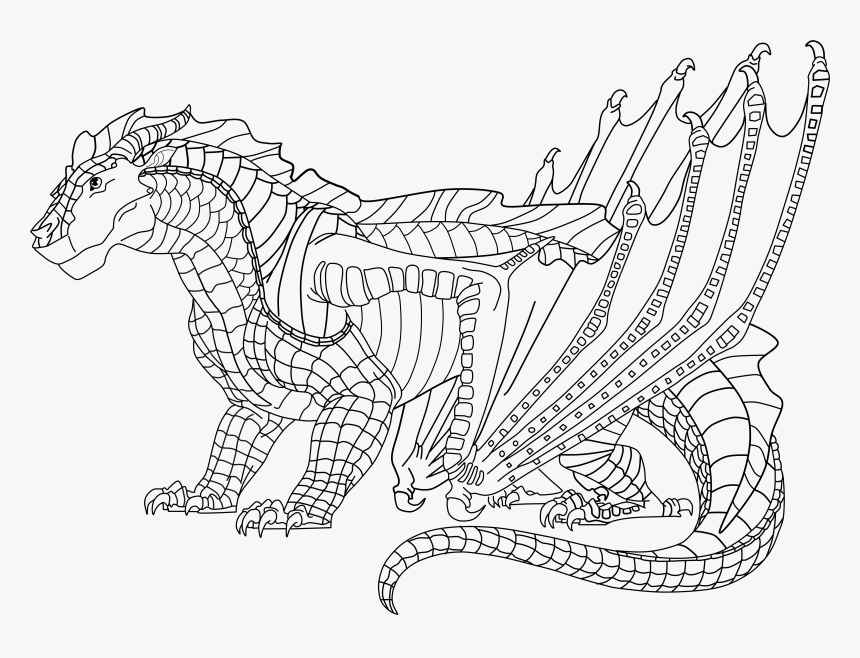 5500 X 3931 Hybrid Wings Of Fire Coloring Pages Hd Png Download Kindpng