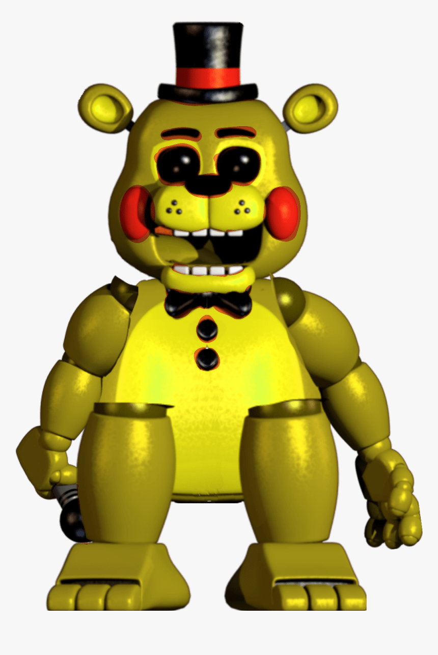 Golden Toy Freddy Cartoon Hd Png Download Kindpng