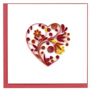 CARD QUILLING HEART FLOWER VDAY