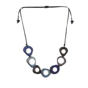 Simple Blue Tagua Necklace