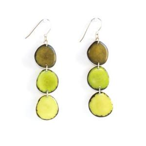Elegant Green Tagua Earrings