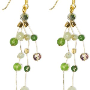 Float Earrings – Light Green