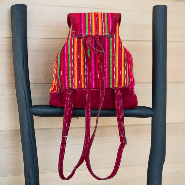 KIDS BACKPACK WOVEN FAUX SUEDE