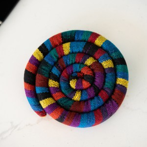 SMALL SPIRAL COTTON TRIVET WITH SPICES
