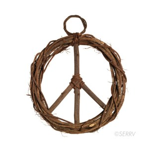 Peace Wreath – Natural Vine